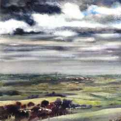 1 'CLOUDY WEATHER, GEERAARDSBERGEN' 56 X 56 cm