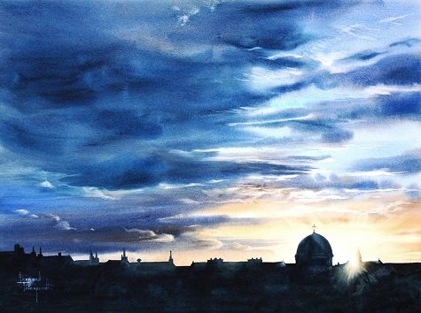 9 'EARLY MORNING, ENGLISH CONVENT BRUGES' 76 x 56 cm
